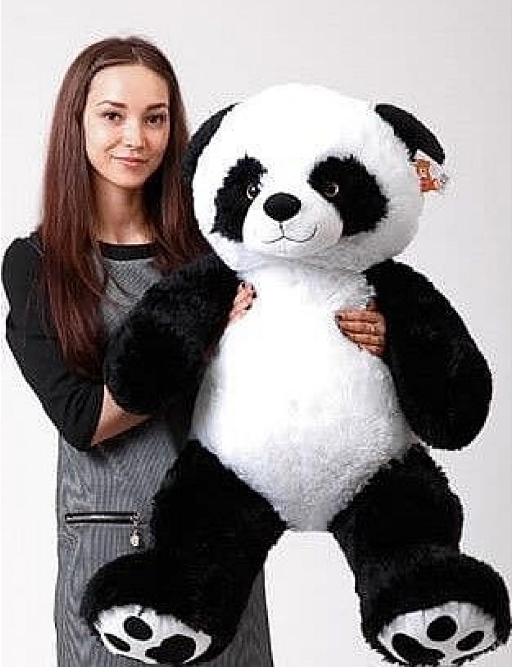Панда с зеленой ленточкой 110 см
