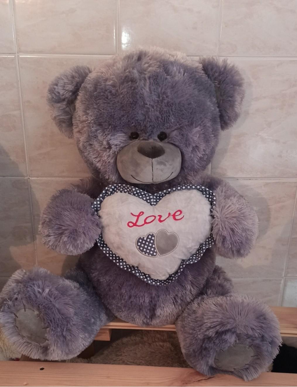Тедди с сердцем 85 см