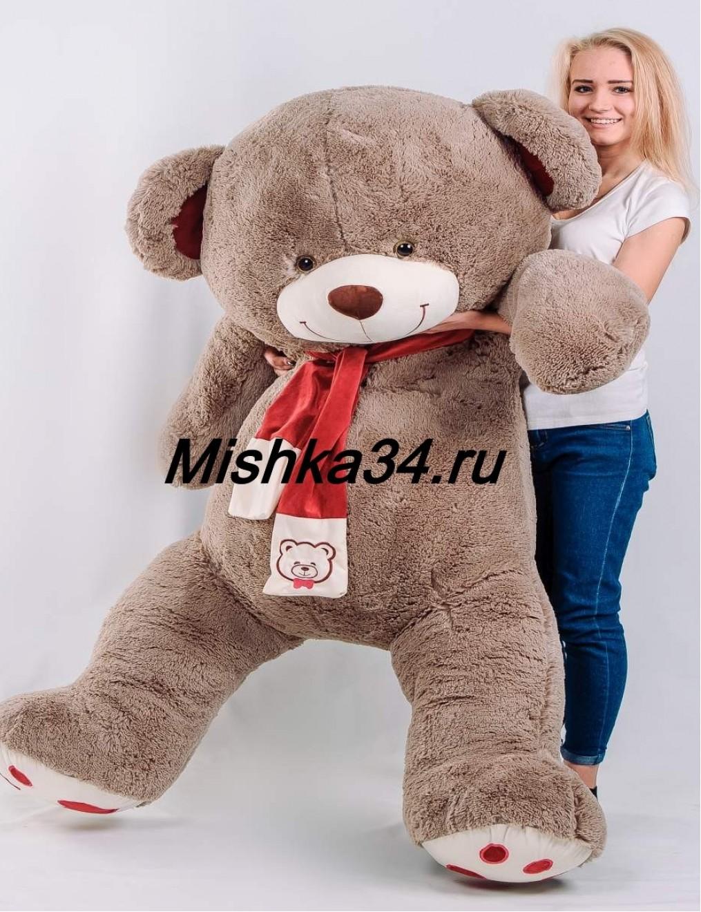 Мишка BOSS 180 см Кофейный