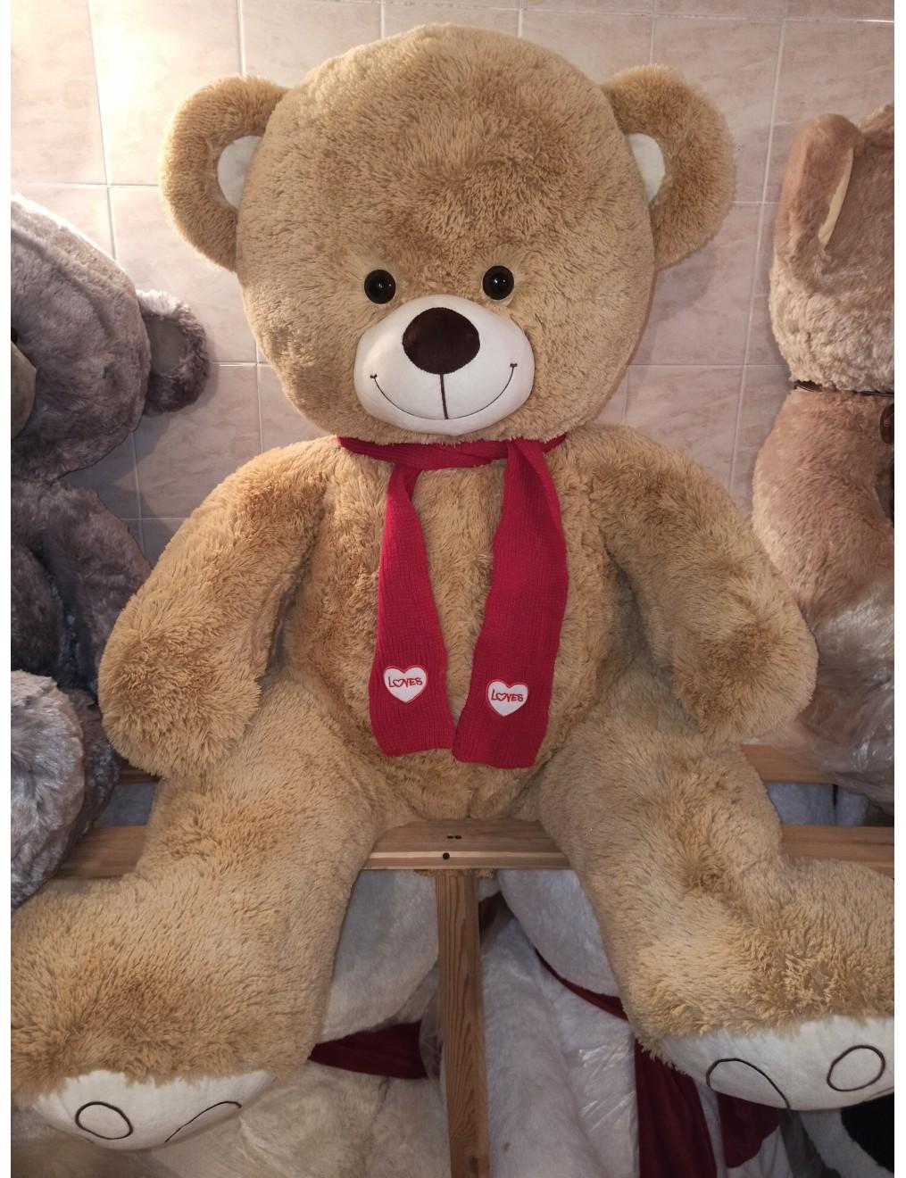 Мишка Тим 150 см в шарфике 2